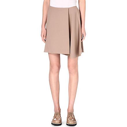 BRUNELLO CUCINELLI Asymmetric wool-blend skirt (Biscotto