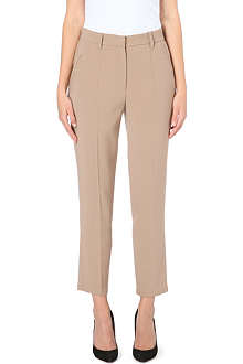 BRUNELLO CUCINELLI Straight-cut high-rise crepe trousers