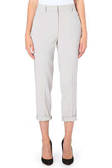 BRUNELLO CUCINELLI Straight high-rise crepe trousers