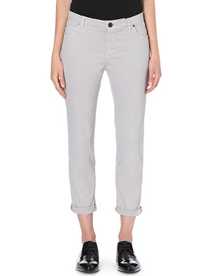 BRUNELLO CUCINELLI Cropped slim-fit mid-rise jeans