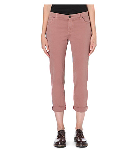 BRUNELLO CUCINELLI Cropped slim-fit mid-rise jeans (Pink