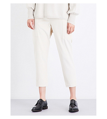 BRUNELLO CUCINELLI Cropped corduroy trousers (Milk