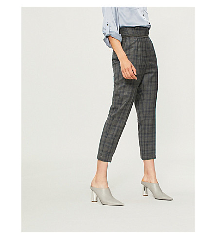 BRUNELLO CUCINELLI Checked wool trousers (Blue
