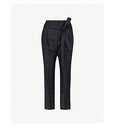 BRUNELLO CUCINELLI Checked wool trousers (Navy