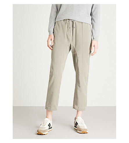 BRUNELLO CUCINELLI Straight-leg corduroy trousers (Salt