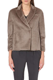 BRUNELLO CUCINELLI Double-breasted alpaca-blend jacket