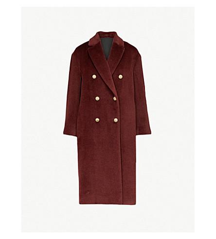 BRUNELLO CUCINELLI 延绳羊驼毛大衣 (Bordeaux