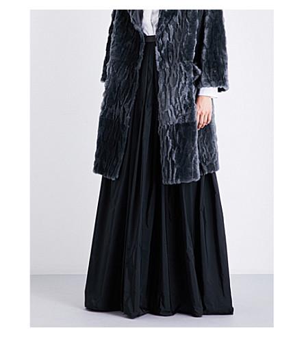 BRUNELLO CUCINELLI A-line taffeta maxi skirt (Black