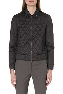 BRUNELLO CUCINELLI Embellished quilted bomber jacket