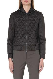 BRUNELLO CUCINELLI Embellished quilted bomber jacket