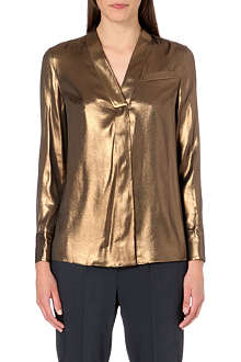 BRUNELLO CUCINELLI Metallic silk shirt