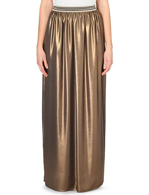 BRUNELLO CUCINELLI Metallic silk maxi skirt