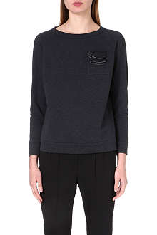 BRUNELLO CUCINELLI Pocket-square cotton-jersey sweatshirt