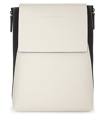 BRUNELLO CUCINELLI Leather backpack (Milk