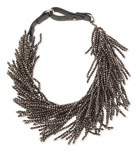 BRUNELLO CUCINELLI Beaded necklace (Black+stone
