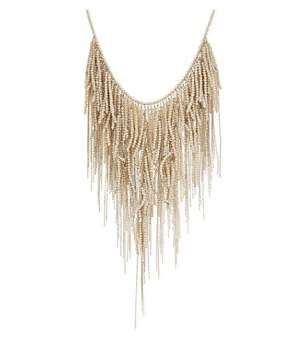 BRUNELLO CUCINELLI Short bead necklace (Beige