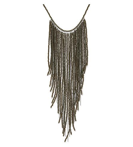 BRUNELLO CUCINELLI Bead & ball chain necklace (Military+green