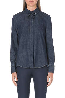 BRUNELLO CUCINELLI Flower detail denim shirt
