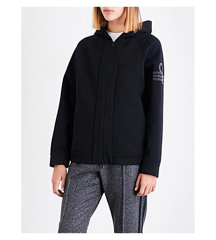 BRUNELLO CUCINELLI Beaded-detail cotton-blend hoody (Black