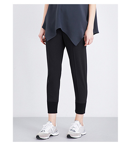BRUNELLO CUCINELLI Cropped mid-rise stretch-wool trousers (Black