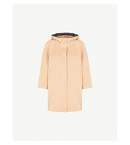 BRUNELLO CUCINELLI Longline hooded shell coat (Camel