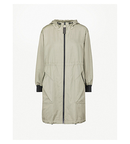 BRUNELLO CUCINELLI Oversized cotton-blend parka coat (Sage+green