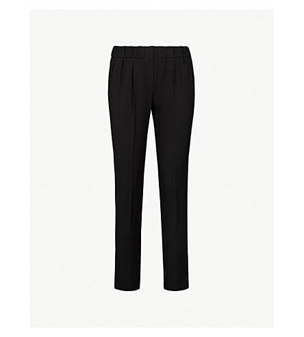 BRUNELLO CUCINELLI Straight cropped twill jogging bottoms (Black