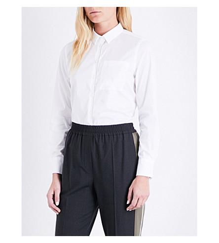 BRUNELLO CUCINELLI Embellished cotton-blend shirt (White