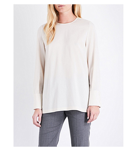 BRUNELLO CUCINELLI Silk top (Milk