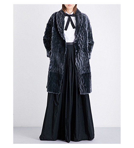 BRUNELLO CUCINELLI Reversible shearling coat (Grey
