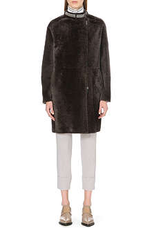BRUNELLO CUCINELLI Front zip shearling coat