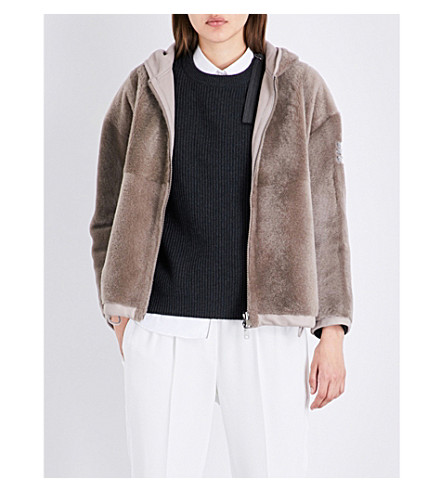 BRUNELLO CUCINELLI Reversible shearling jacket (Clay