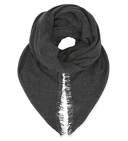 BRUNELLO CUCINELLI Cashmere scarf (Charcoal