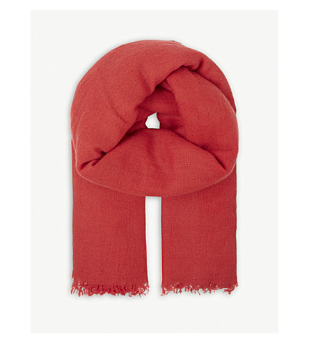 BRUNELLO CUCINELLI Cashmere frayed scarf (Ceralacca