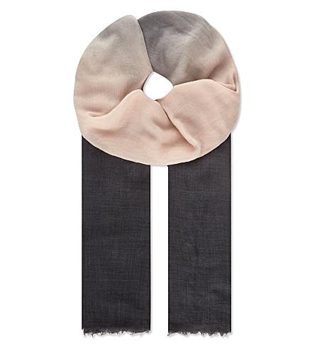 BRUNELLO CUCINELLI Gradient cashmere scarf (Pink/purple
