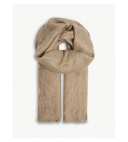 BRUNELLO CUCINELLI Silk-blend scarf (Espresso
