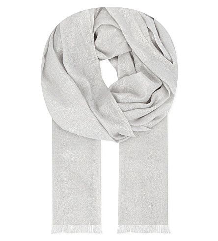 BRUNELLO CUCINELLI 羊绒丝巾 (牛奶