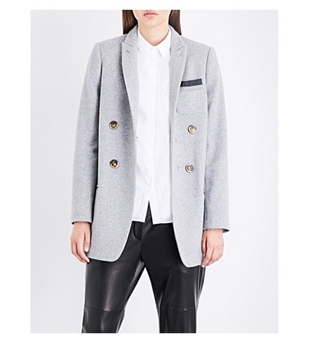 BRUNELLO CUCINELLI Double-breasted cashmere blazer (Light+grey