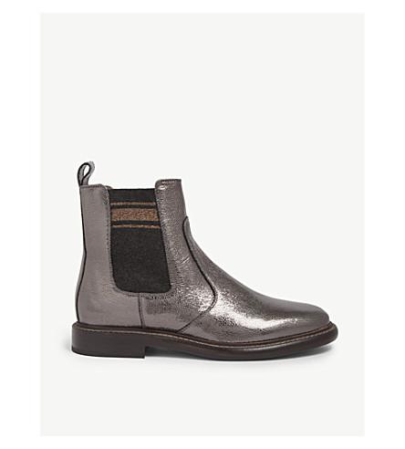 BRUNELLO CUCINELLI Broken Glass leather Chelsea boots (Carbone
