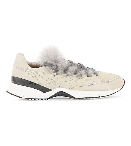 BRUNELLO CUCINELLI Shearling and suede runner trainers (Shell
