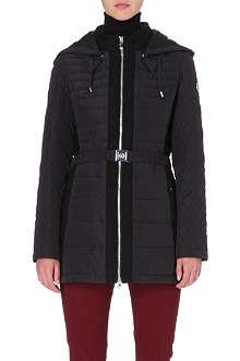 ARMANI JEANS Long puffer jacket