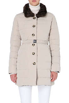 ARMANI JEANS Reversible belted puffer jacket