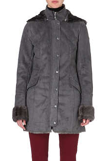 ARMANI JEANS Faux sheepskin coat