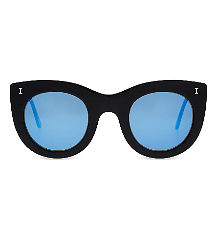 ILLESTEVA Boca II cat-eye sunglasses (Tortoise+stripes