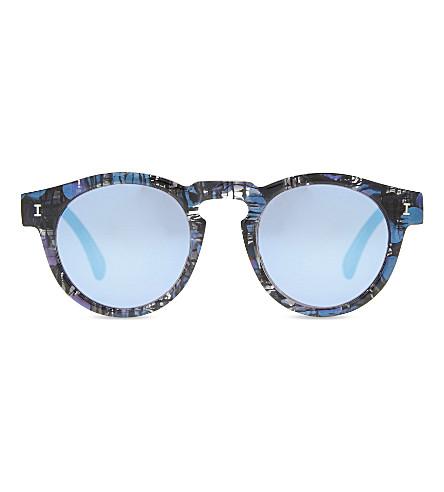 ILLESTEVA Le124 Leonard round-frame sunglasses (Iridescent+w+blue+mirror