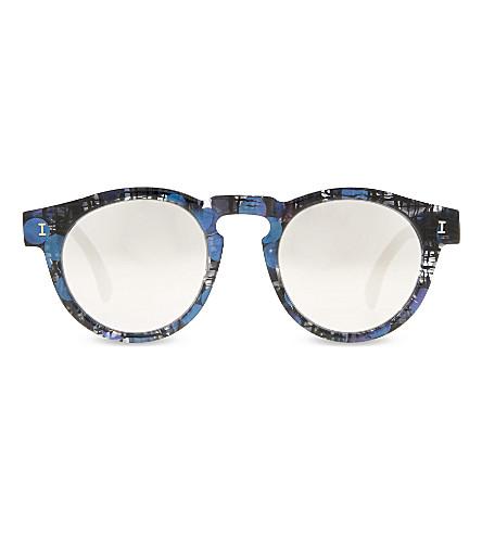 ILLESTEVA Le124sm Leonard round-frame sunglasses (Iridescent+w+slvr+mirror