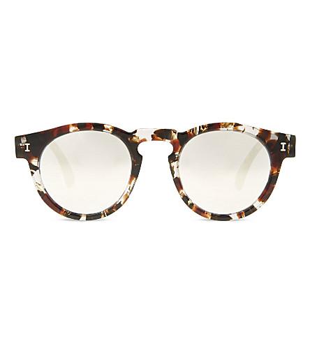 ILLESTEVA Le126sm Leonard round-frame sunglasses (Clr+marble+w+slvr+mirror