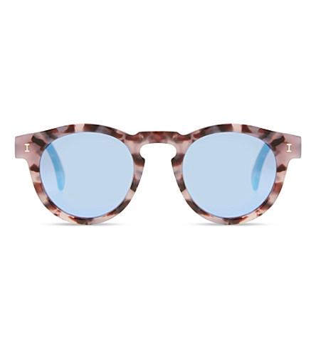 ILLESTEVA Le132 Leonard round-frame sunglasses (Prpl+tortoise+w+blu+mirr