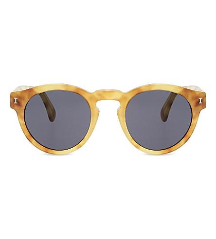 ILLESTEVA 4822 leonard horned round-frame sunglasses (Amber