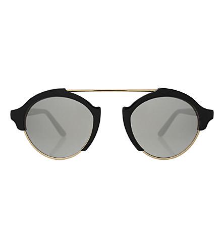 ILLESTEVA MIL4 1S round-frame sunglasses (Black